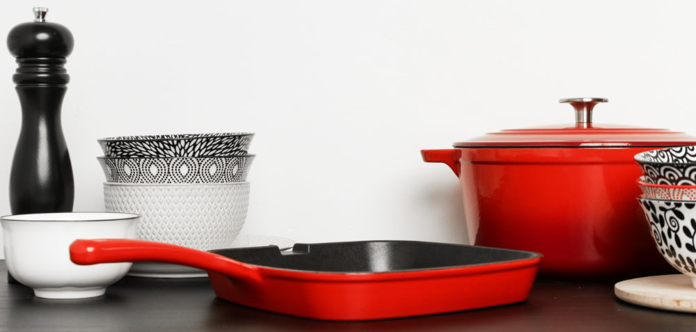 Emailliertes Gussgeschirr - Emaille gehört zu den besten Pfannenmaterialien